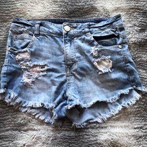 Refuge Distressed Denim Shorts